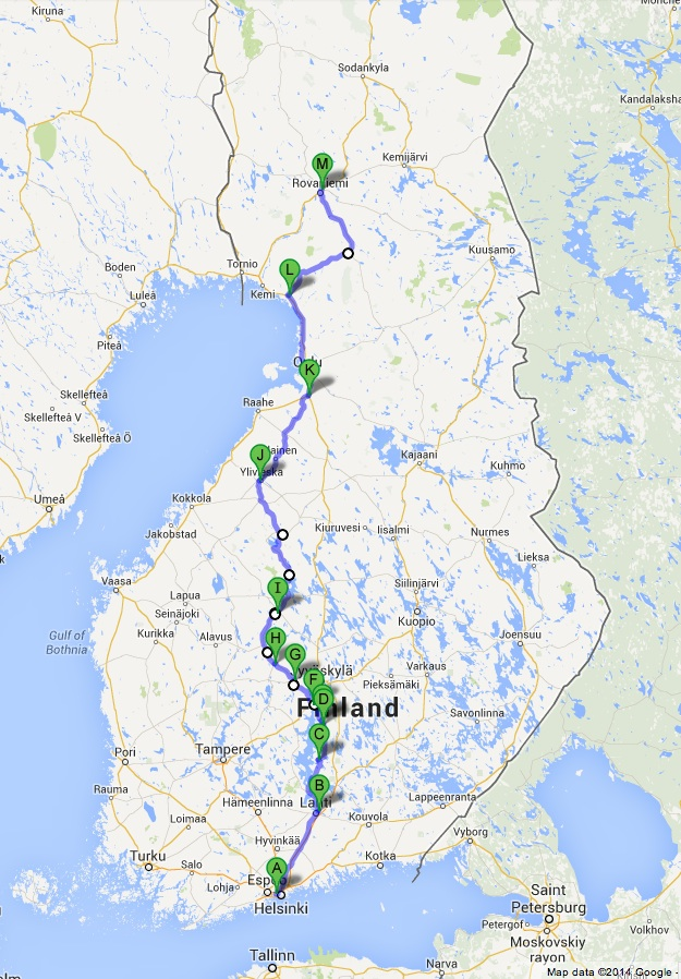 Route to Lapland
